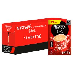 Nescafe Original 3in1 Instant Coffee, 6 Sachets x 17g