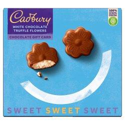 Cadbury White Chocolate Truffle Flowers Chocolate Gift Card 112g