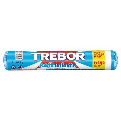 Trebor Softmints Spearmint 50p Mints Roll 44.9g