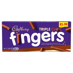 Cadbury Fabulous Fingers Chocolate Biscuits £1.39 110g