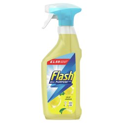 Flash Multi Purpose Cleaning Spray Lemon For Hard Surfaces 469ML