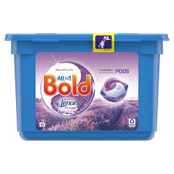 Bold All-in-1 Pods Washing Liquid Capsules Lavender & Camomile 15 Washes