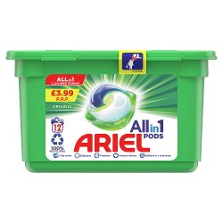 Ariel All-in-1 Pods Washing Liquid Capsules Original 12 Washes