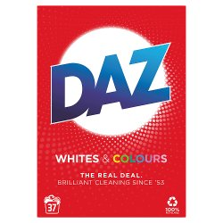Daz Washing Powder Whites & Colours 2.405kg 37 Washes