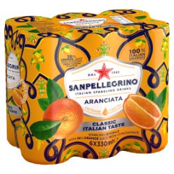 San Pellegrino Classic Taste Orange Slim Cans 6x330ml