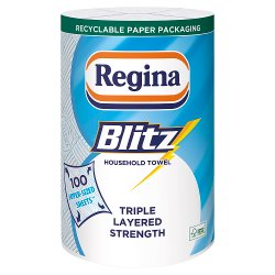 Regina Blitz Household Towel 100 Super-Sized Sheets