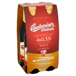 Budweiser Budvar Original 4 x 330ml