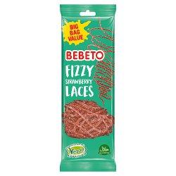 Bebeto Fizzy Strawberry Laces 12 x 220g