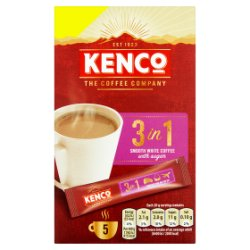 Kenco 3 in 1 Smooth White Instant Coffee with Sugar £1 PMP Sachets x5