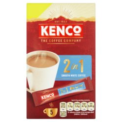 Kenco 2 in 1 Smooth White Instant Coffee £1 PMP Sachets x5