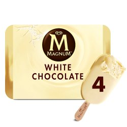Magnum White Ice Cream 4 x 110ml
