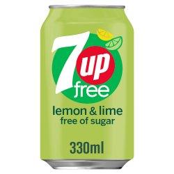 7UP Free Lemon & Lime Can 330ml