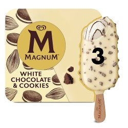 Magnum White Chocolate & Cookies Ice Cream 3 x 90ml
