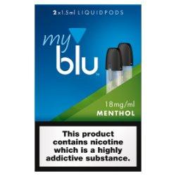 blu® myblu® Liquidpods Menthol 18mg/ml 2 x 1.5ml