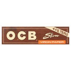 OCB 32 Unbleached Slim Virgin Paper + Filter