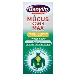 Benylin® Mucus Cough Max Honey & Lemon Flavour 100 mg/5 ml Syrup 150ml