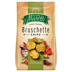Maretti Italian Style Bruschette Chips Mediterranean Vegetables 70g