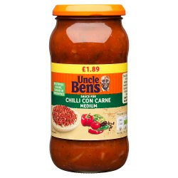 Uncle Bens PMP £1.89 Medium Chilli Con Carne Sauce 450g