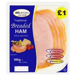 Delicatessen Fine Eating Traditional Breaded Ham 100g