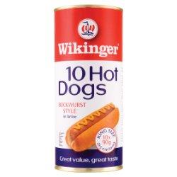 Wikinger 10 Hot Dogs Beechwood Smoked Bockwurst Style in Brine 1650g