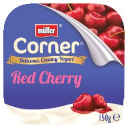 Muller Corner Plain Yogurt with Cherry Compote 150g