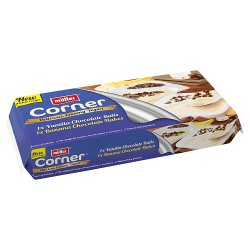 Müller® Crunch Corner® Vanilla Chocolate Balls, Banana Chocolate Flakes 2 x 135g (270g)
