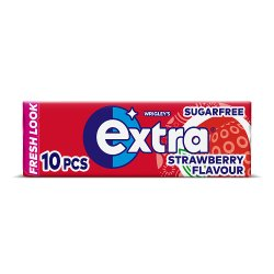 Extra Strawberry Chewing Gum Sugar Free 10 Pieces