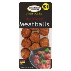 Delicatessen Fine Eating Hot & Spicy Meatballs 200g