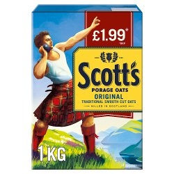 Scott's Original Porridge Oats £1.99 RRP PMP 1kg