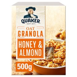 Quaker Oat Honey & Almond Granola 500g