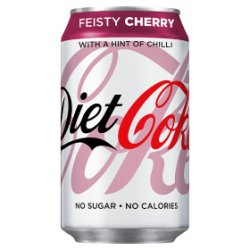 Diet Coke Feisty Cherry 330ml PMP 69p