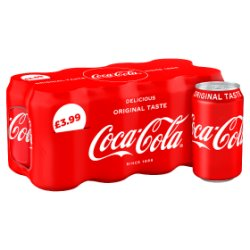 Coca-Cola Original Taste 8 x 330ml PMP £3.99