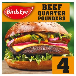 Birds Eye 4 Original Beef Quarter Pounders with Onion 454g
