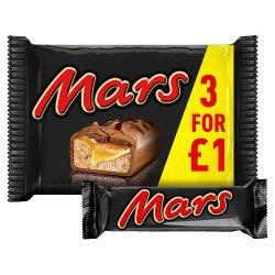 Mars Chocolate Bars £1 PMP Multipack 3 x 39.4g