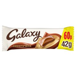 Galaxy Milk Chocolate £0.60 PMP Bar 42g