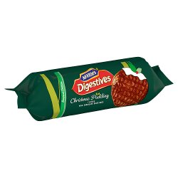 McVitie's Digestives Christmas Pudding Milk Chocolate Biscuits 250g