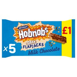 McVitie's Hobnobs 5 Flapjacks Topped with Milk Chocolate 131.8g