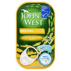 John West MSC Mackerel Fillets in Dijon Mustard Sauce 125g