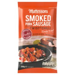 Mattessons Smoked Pork Sausage Twist of Chilli 200g