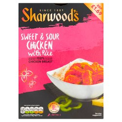 Sharwood's Sweet & Sour Chicken with Rice 375g