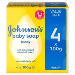 JOHNSON'S® Baby Soap Honey 4 x 100g
