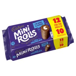 Cadbury 12 Milk Chocolate Mini Rolls