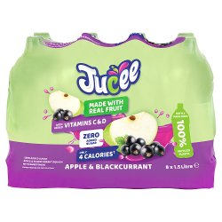 Jucee No Added Sugar Apple & Blackcurrant 8 x 1.5 Ltr