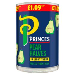 Princes Pear Halves in Light Syrup 410g