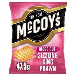 The Real McCoy's Ridge Cut Sizzling King Prawn Flavour Potato Crisps 47.5g