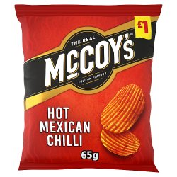 McCoy's Hot Mexican Chilli Sharing Crisps 65g, £1 PMP