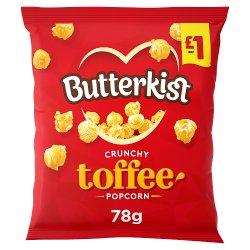 Butterkist Crunchy Toffee Popcorn 78g, £1 PMP