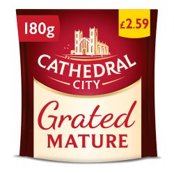 Cathedral City Grated Mature Cheese PMP £2.59 180g
