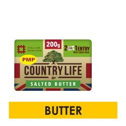 Country Life Salted Butter 200g PM £1.75