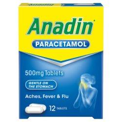 Anadin Paracetamol 500mg Tablets 12 Tablets